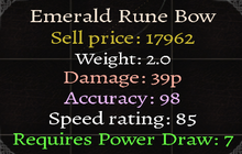Emerald Rune Bow Stats