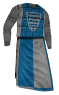 Mesh coat of platesblue