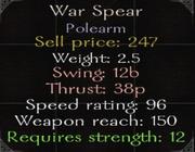 WarSpearStats