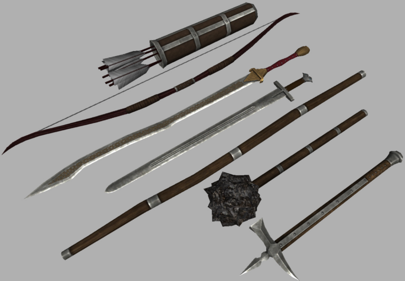 Reworked weapon pack