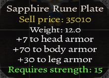 Sapphire Rune Plate Stats