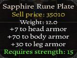 Sapphire Rune Plate
