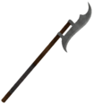 Mesh two handed battle axe c steel