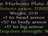 Ornate Marleons Plate Armor
