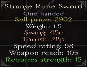 Strange Rune Sword