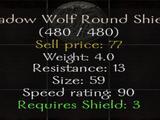 Shadow Wolf Round Shield