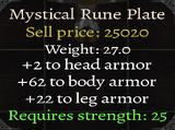 Mystical Rune Plate