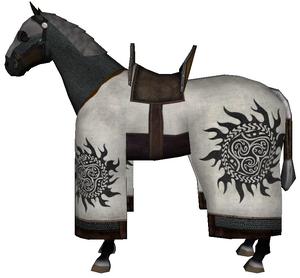 War horse white