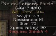 Noldor infantry shield
