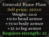 Emerald Rune Plate