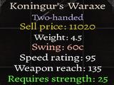 Koningur's Waraxe