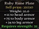 Ruby Rune Plate