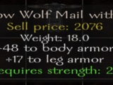 Shadow Wolf Mail with Fur