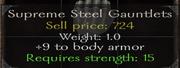 Supreme steel gauntlets stats