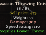 Assassin Throwing Knives