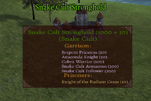 Snake Cult Stronghold