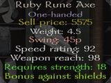 Ruby Rune Axe