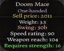 Doom Mace Stats