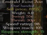 Emerald Rune Axe
