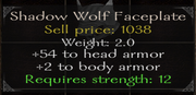 Shadow wolf faceplate stats