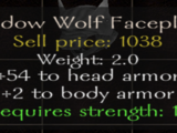 Shadow Wolf Faceplate