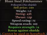 Blunt Steel Polehammer
