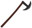 Mesh one handed battle axe b