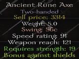 Ancient Rune Axe