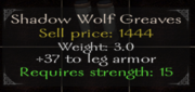Shadow wolf greaves stats