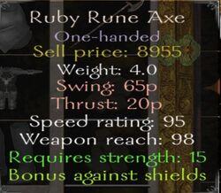 Rubyruneaxeinfo