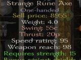 Strange Rune Axe