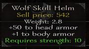 Wolf skull helmet stats