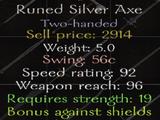 Runed Silver Axe
