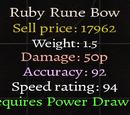 Ruby Rune Bow