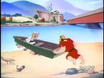 Possum Pearl Pushes a Boat