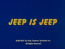 Jeep Is Jeep - Title Card
