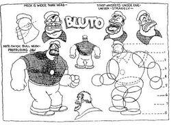 Bluto's design