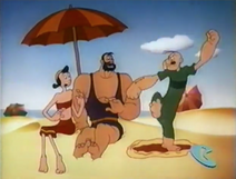 Popeye Hates Bluto on the Beach
