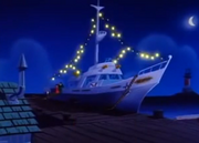 SS Lizzie at night