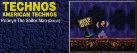 Canceled Sega Genesis Popeye game