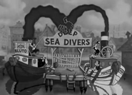 Popeye and Bluto's ships