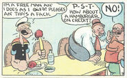 Popeye and Wimpy lunch time