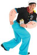 Muscular hero costume