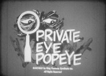 Private Eye Popeye (1960)