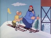 Popeye and Brutus Go Skiing