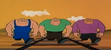 Bruiser Boys in the 60s Popeye cartoon