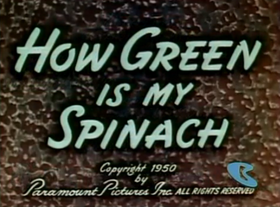 How Green Is My Spinach