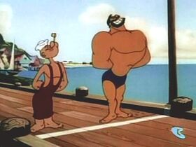 Popeye and Bluto in Swimmer Take All