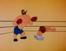 Bluto Boxes Cement Footed Popeye