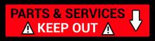 6 - Parts & Services Sign